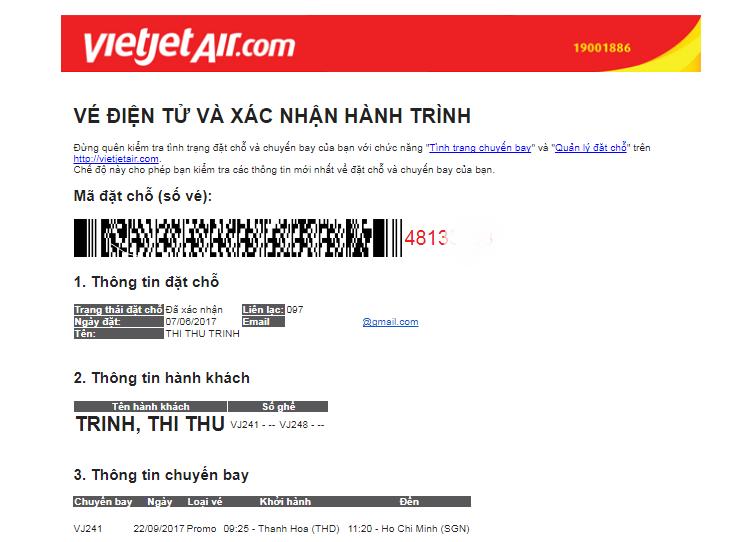 Cách săn vé máy bay 0 đồng Vietjet Air 10