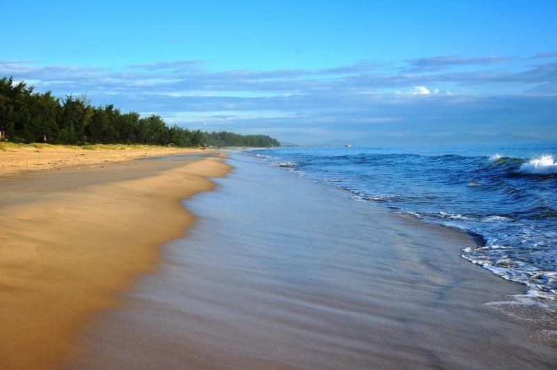 Không gian thơ mộng trên bờ bãi Bảo Ninh